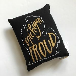 Other - NWT Michigan Proud Small Accent Throw Pillow